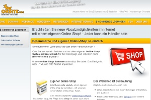 Online-Shop von onSite internet services