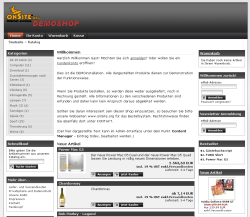 Online-Shop Screenshot